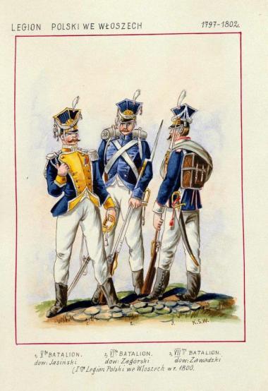 Saryusz-Wolski Kajetan, Legion Polski we Włoszech