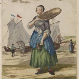 gdańscy wywoływacze - sprzedawczyni krewetek