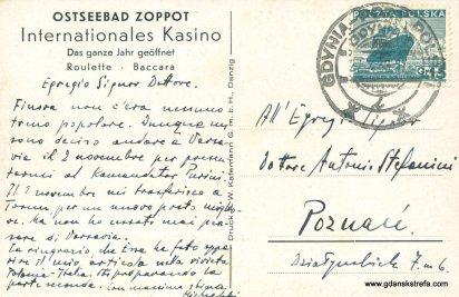 Kartka pocztowa sopockiego kasyna