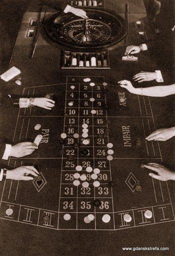 obstawianie na stole ruletki