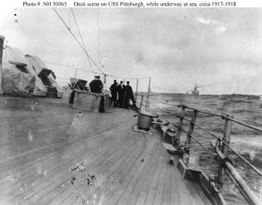USS Pittsburgh na morzu 1917-1918.