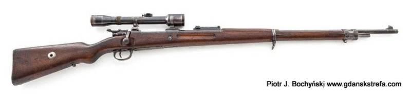 Karabin Mauser G98 – produkcji DANZIG 1917 z celownikiem optycznym marki Oigee 4x (fot. icollector)