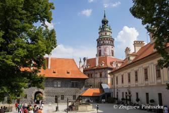 Pod zamkową wieżą - Czeski Krumlow