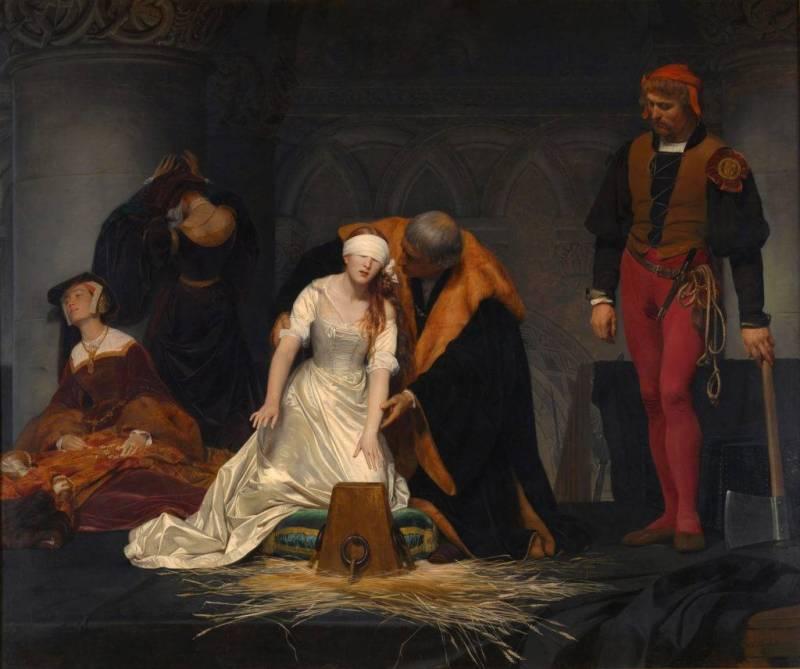 Ścięcie toporem lady Jane Gray, Delaroche.