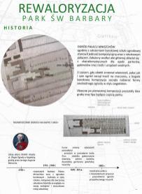 Koncepcja projektowa rewaloryzacji parku św Barbary.