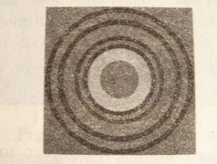 Dyfrakcja promieni X po przejściu przez cieniutką folię złota