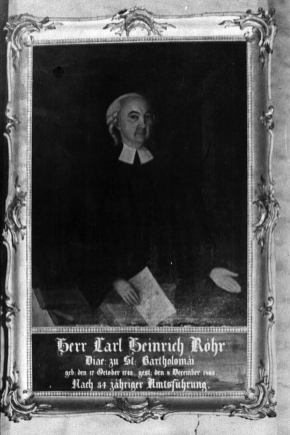 Portret diakona Carla Heinricha Röhra
