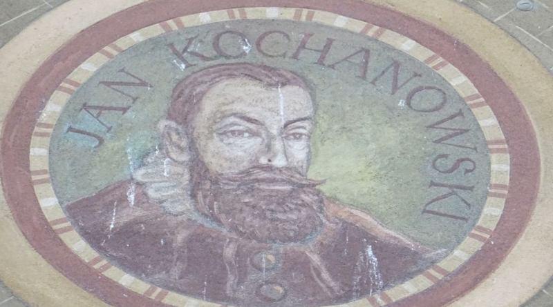 Wizerunek Jana Kochanowskiego z fasady jednej z kamienic przy Długim Targu w Gdańsku