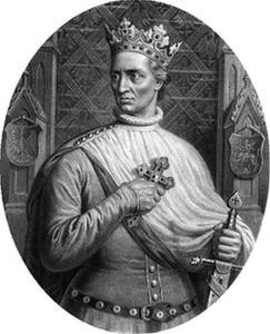 """Władysław Jagiełło, A. Lesser """"Wizerunki królów polskich"""", Wikipedia"""