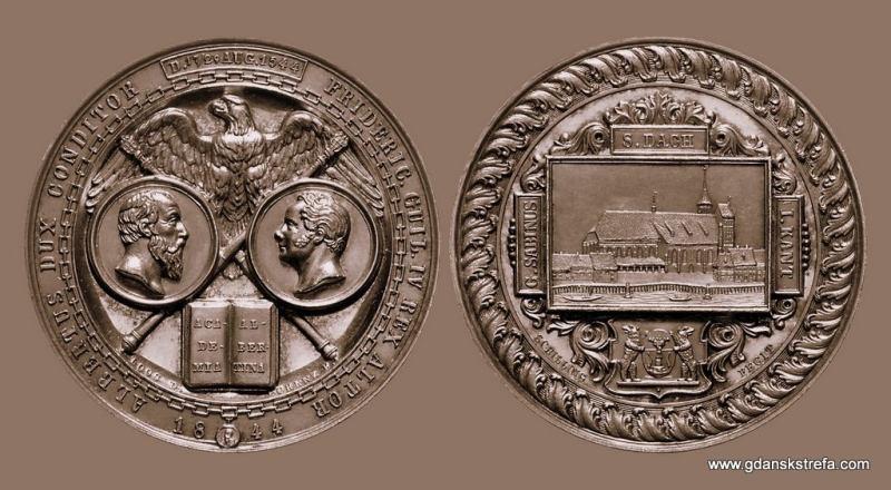 Medal wybity z okazji 300 lecia powstania Uniwersytetu Królewieckiego.