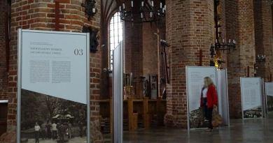Fragment wystawy w kościele św. Brygidy