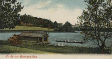 Szpęgawsk – wieś położona na przesmyku pomiędzy dwoma jeziorami