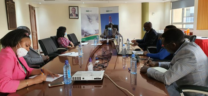 UNEP/ARGeo Energy Unit Head Dr. Meseret Zemedkun, pays courtesy call on GDC Top Leadership