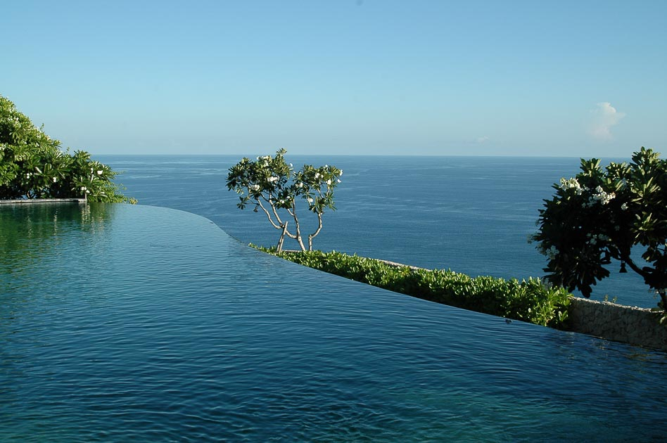 Bvlgari Bali pool view of the ocean luxury travel
