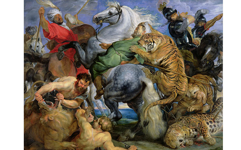 Rubens Tiger Lion and Leopard Hunt