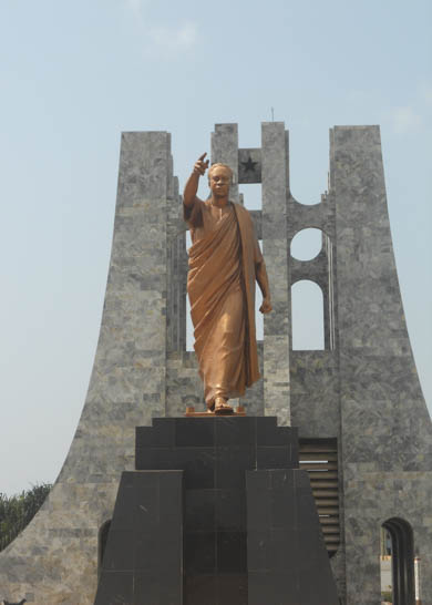 Mausoleum Tombs of the Great Leaders Statue of Nkrumah