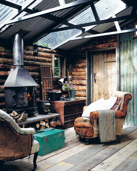 living a simple life wood interior