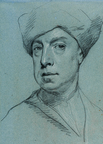 Jonathan Richardson Self portrait red chalk on off white paper c 1728