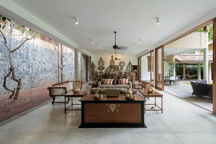 Malalasekara House living room sri lanka house designs