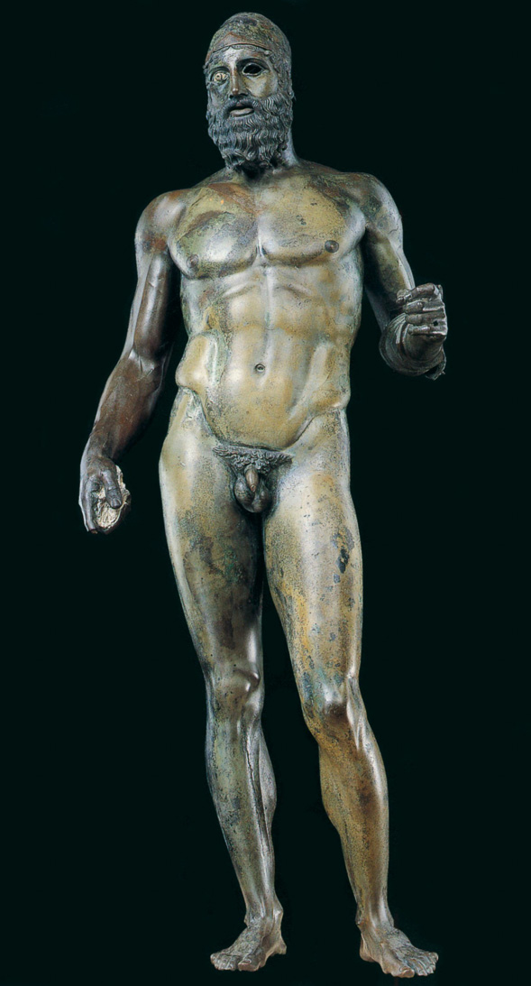 riace bronze statue discovered off the coast of Riace marina in Italy ancient greek art