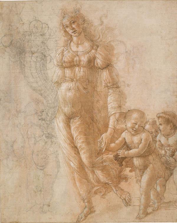 Allegory of Abundance or Autumn c1470-5 by Sandro Botticelli Victoria and Albert Museum London Botticelli Reimagined