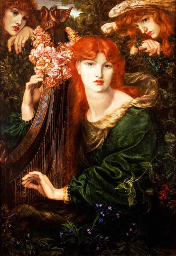 La Ghirlandata 1873 by Dante Gabriel Rossetti Victoria and Albert Museum London Botticelli Reimagined