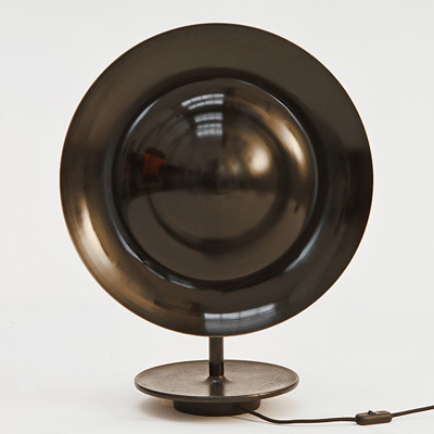 Eric Schmitt Sugegasa table lamp 2013 Polished lacquered brass and patinated cast steel