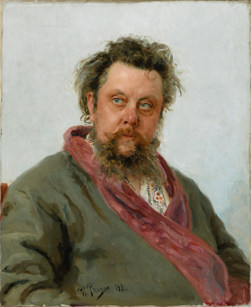 Modest Mussorgsky by Ilia Repin Russia and the Arts - The Age of Tolstoy and Tchaikovsky