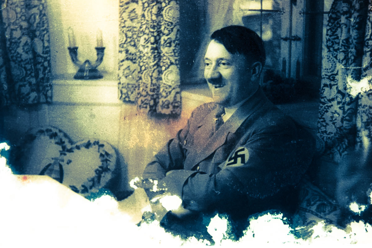 Hitler at Home Reproduction of Adolf Hitler from the archive of Israeli Nazi hunter Tuviah Friedman
