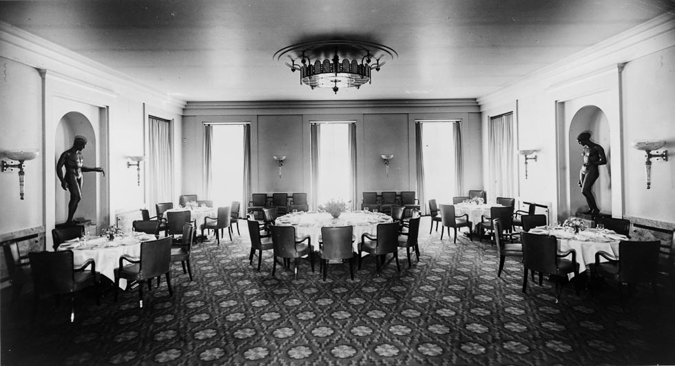 Heinrich Hoffmann, photograph of the new dining room in the Old Chancellery in Berlin, designed by Paul Troost and completed by the Atelier Troost, c. 1934