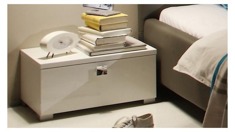 chevet design laque blanc 1 tiroir