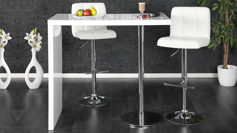 bar moderne et design laque blanc et