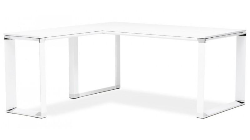 bureau d angle design en bois et metal