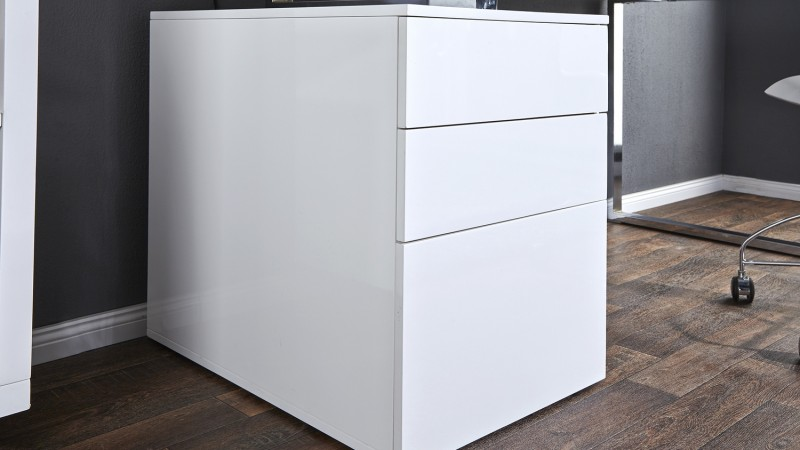 moderne laque blanc avec caisson cole
