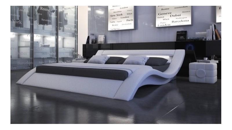 lit design blanc 200x200 cm lumineux en