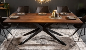 table a manger design bois fonce nara