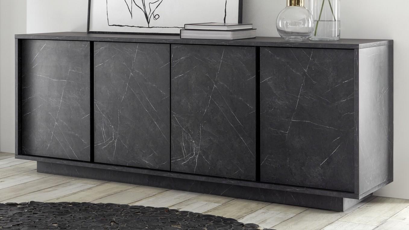 buffet design moderne marbre noir avec