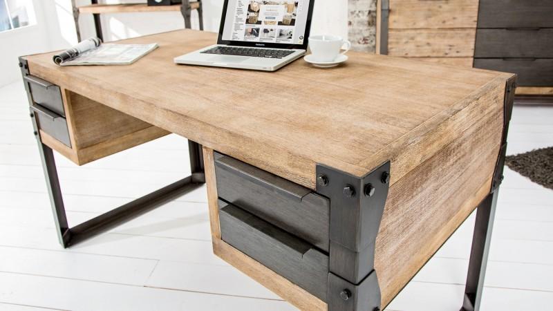 bureau droit design industriel bois