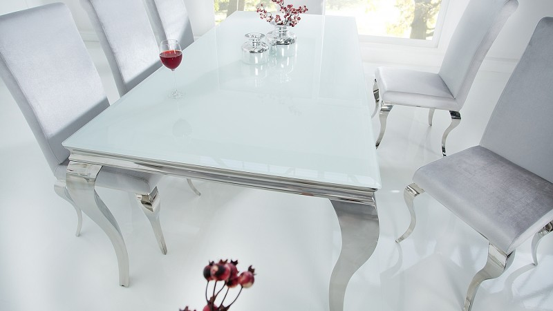 table a diner baroque design blanche
