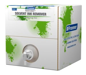 Franmar Wash-Away Solvent Ink Remover available at GDM Graphics