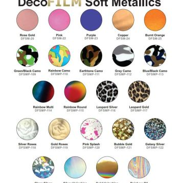 Deco Film Soft Metallics at GDM Graphics
