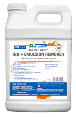 One Step Clear Ink and Emulsion Remover - Franmar at GDM Graphics