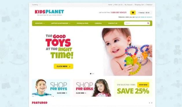 ecommerce per giochi  per bambini