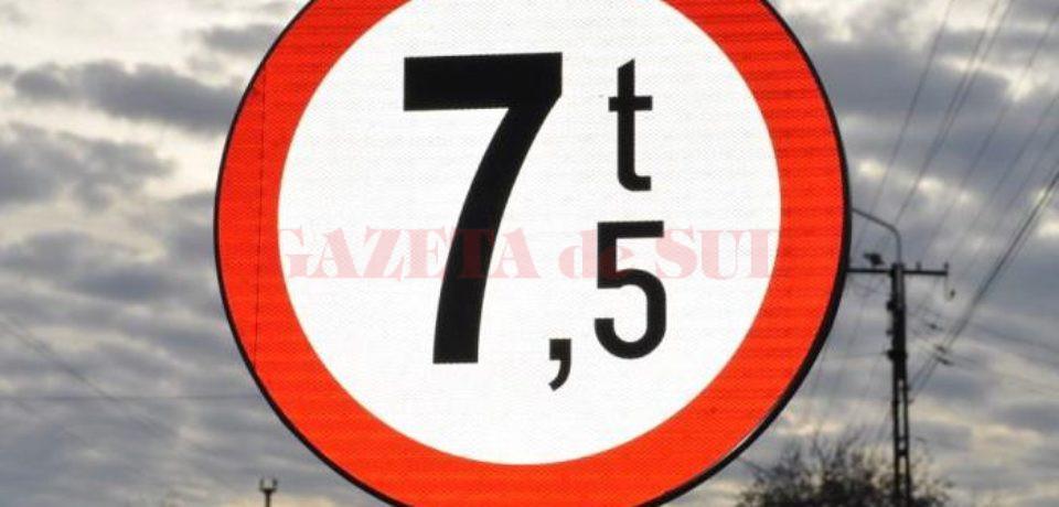 CNAIR a anunţat că sunt impuse restricţii de circulaţie pentru vehiculele mai mari de 7,5 tone