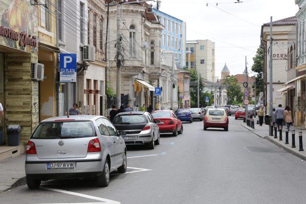 Parcările cu plată de pe strada Unirii