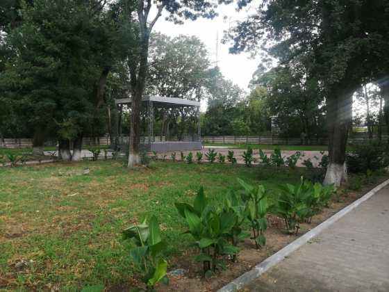Scena din parcul central