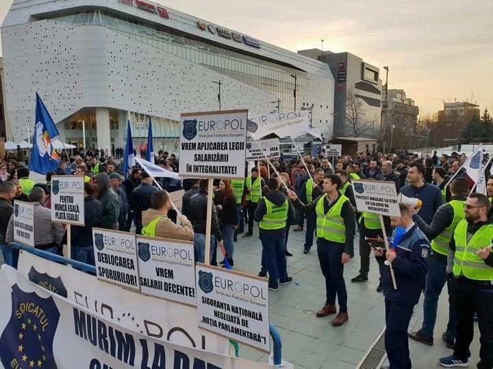 Poteste politisti Foto: Sindicatul Politistilor Europol