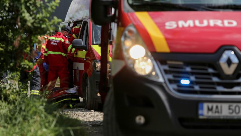 Explozie/ Explozie puternică la Popești-Leordeni, la o stație de reciclare Foto: Inquam Photos / Sabin Cîrstoveanu