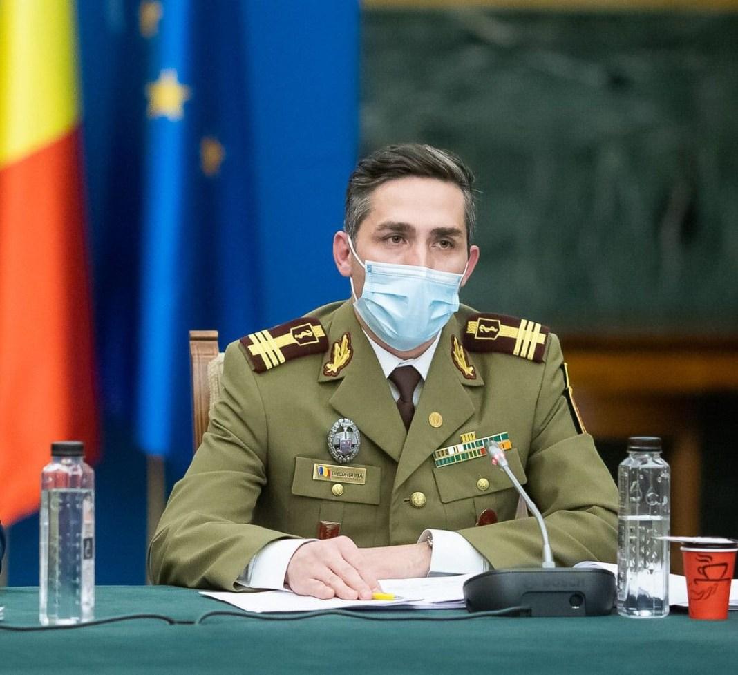 Valeriu Gheorghiță: O persoană infectată cu varianta Delta poate genera 6, 7 cazuri secundare