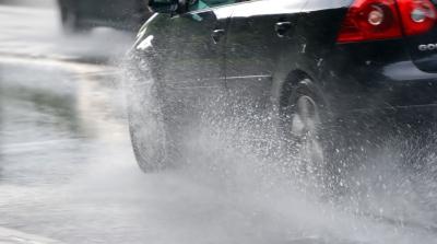 Avertizare Infotrafic: Plouă torenţial pe A3 Bucureşti - Ploieşti